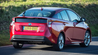 Performance isn't too bad either, with the Prius hybrid getting from 0-62mph in 10.6 seconds