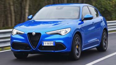 Alfa Romeo Stelvio SUV driving