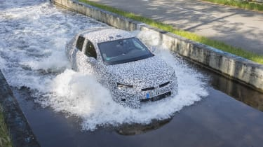 2019 Vauxhall Corsa Prototype water testing