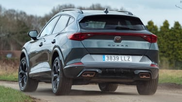 Cupra Formentor SUV review rear cornering