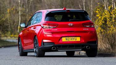 Hyundai i30 N rear 3/4 cornering