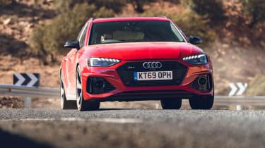 Audi RS4 Avant estate front action