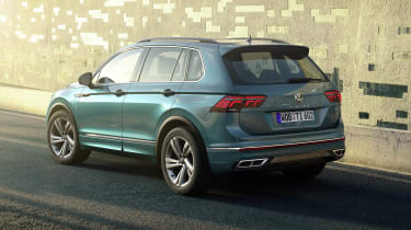 Facelifted Volkswagen Tiguan - rear view