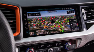 Audi A1 Citycarver hatchback infotainment display
