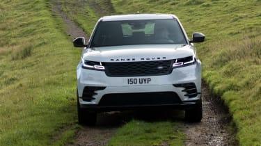 2021 Range Rover Velar P400e plug-in hybrid driving off-road