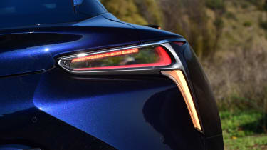 The very thin LEDs used in creating the LC's rear lights give the back of the car a very modern look.