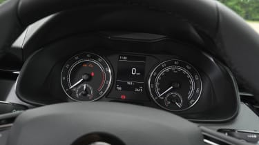 Skoda Scala hatchback instrument dials