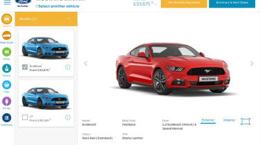 Ford configurator mustang red