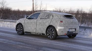 Electric Renault Megane crossover prototype - rear/side view