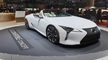 Lexus LC Convertible concept Geneva front quarter