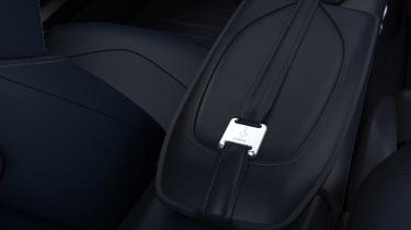 Aston Martin DBS Superleggera Concorde Edition aluminium seat buckle