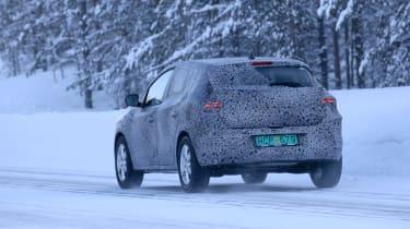 2021 Dacia Sandero winter testing - rear 3/4 dynamic