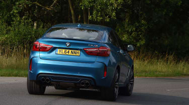 Adaptive M suspension, wide tyres and sharp steering give the BMW X6 M impressive agility for an SUV