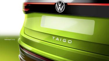 Volkswagen Taigo sketch - rear detail
