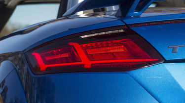 The TT RS shares much of its styling with slower models, albeit with some sporty additions