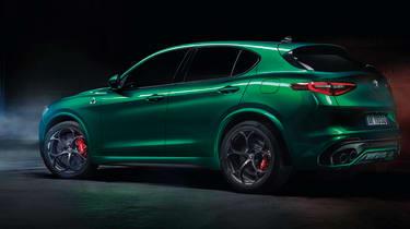 Alfa Romeo Stelvio Quadrifoglio - green, rear view