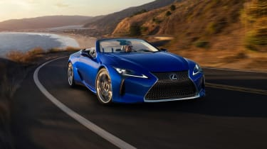 Lexus LC500 Convertible driving
