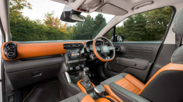 Citroen has designed the interior with comfort in mind, hence the wide and squishy seats