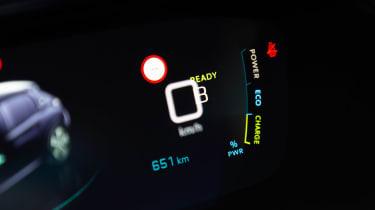 Peugeot e-208 hatchback instrument display