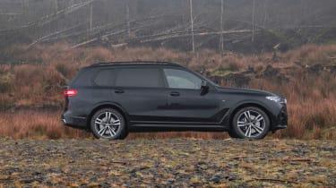 BMW X7 SUV side off-road
