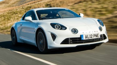 Alpine A110 coupe front 3/4 tracking