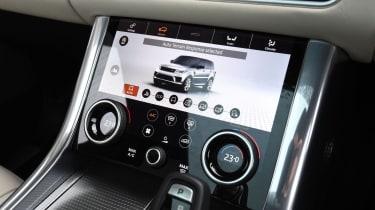 Range Rover Sport SUV drive selection