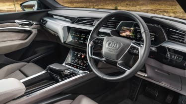 Audi e-tron SUV steering wheel