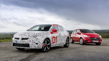 Vauxhall Corsa prototype - new Corsa and previous generation