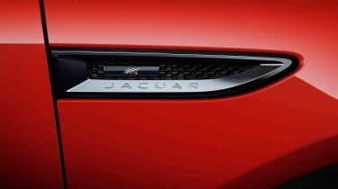 Jaguar E-Pace Chequered Flag badging