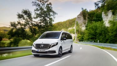 Mercedes EQV - front 3/4 dynamic wide view