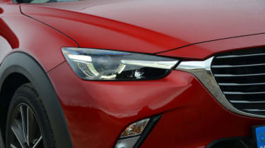 The way the front grille flows into the headlights is an attractive design feature