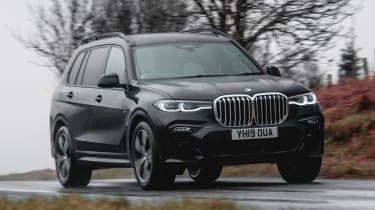 BMW X7 SUV front 3/4 cornering