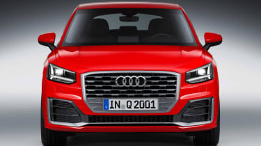 With a dominant grille treatment, the Q2 has serious rear-view mirror presence