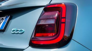 Fiat 500 hatchback rear lights