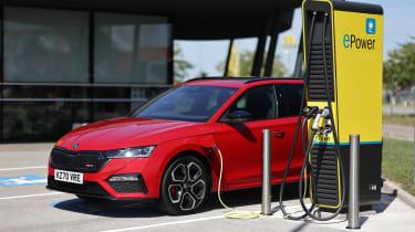 2020 Skoda Octavia vRS iV estate - charging