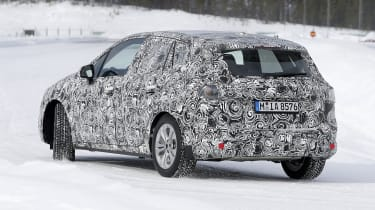 BMW 2 Series Active Tourer in development - rear/side view