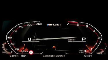 BMW M135i digital instrument cluster