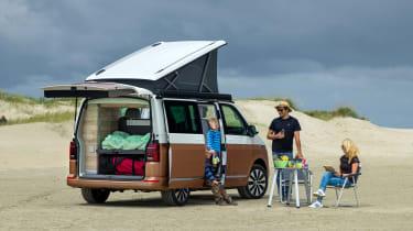 2019 Volkswagen California campervan - rear 3/4 view