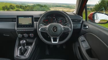 2019 Renault Clio - dashboard from driver's position