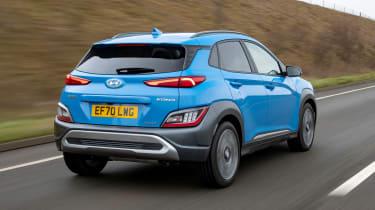 Hyundai Kona SUV rear 3/4 tracking