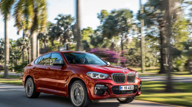 BMW X4 tracking shot, front right