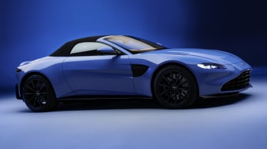 2020 Aston Martin Vantage Roadster - front 3/4 view roof-up