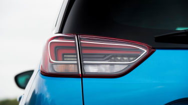 The rear lights have a distinctive pattern