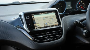 The touchscreen infotainment system incorporates sat nav, Bluetooth and DAB digital radio