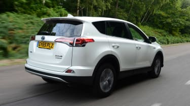 The RAV4 Hybrid is a practical shape, with a high seating position giving excellent visibility