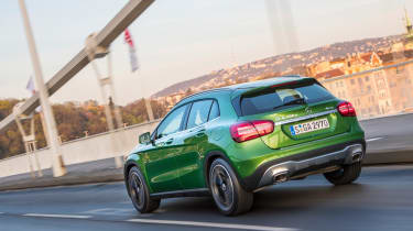 The GLA gets autonomous emergency braking as standard, contributing to its five-star Euro NCAP safety rating