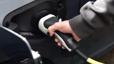 Volkswagen Golf GTE hatchback charging cable