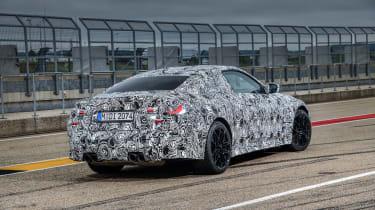 2020 BMW M4 prototype rear view