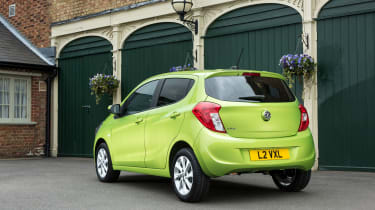 Options include larger 16-inch alloy wheels, bright metallic colours and rear parking sensors