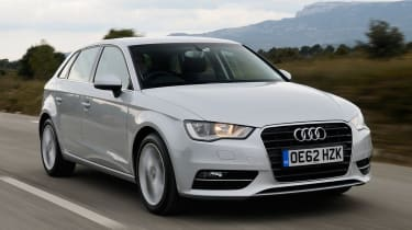 Audi A3 Sportback 2012 front quarter tracking